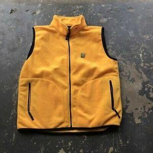 Helly Hansen Fleece Full Zip Pocket Vest in Yellow
